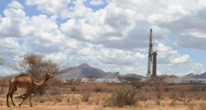 An oil-drilling block managed by Tullow Oil at Lokichar basin in Kenya. Photograph: Tony Karumba/AFP/Getty Images