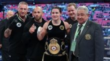 Katie Taylor could be on a collision course with old rival British lightweight, Natasha Jonas. Photo: Lawrence Lustig/Inpho