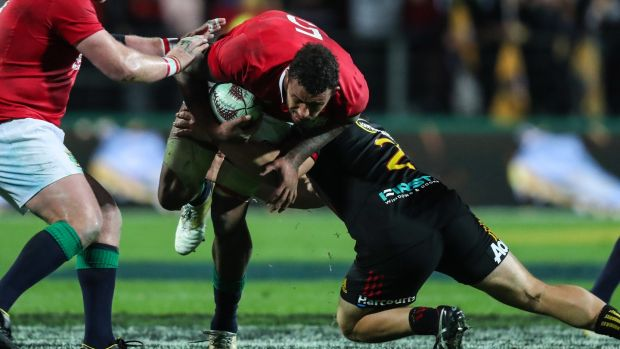 Courtney Lawes in action against the Chiefs. Photograph: Billy Stickland/Inpho