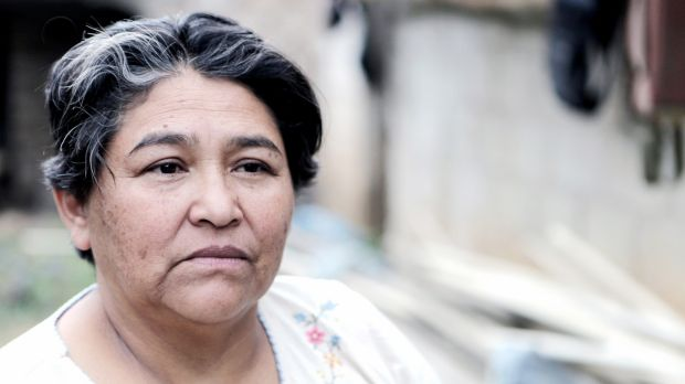 Margarita Pineda in San Jose, La Paz, where she works as co-ordinator for MILPAH (Lenca Indigenous Movement of La Paz). Photograph: Nicky Milne/Thomson Reuters Foundation