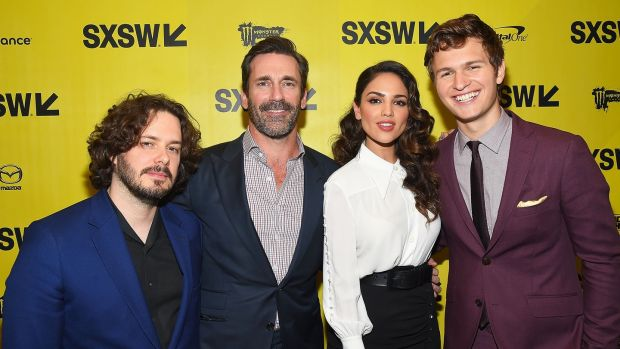 Director Edgar Wright, actors Jon Hamm, Eiza Gonzalez, and Ansel Elgort attend the 'Baby Driver' premiere in Austin, Texas, in March. Photograph: Matt Winkelmeyer/Getty Imagesfor SXSW