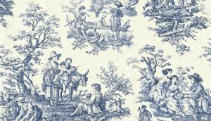 Toile de Jouy: Famous artists including Fragonard were commissioned to create designs and thousands of different ones were produced at the Jouy factory.