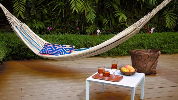 This traditional 'chinchorro' or hammock handwoven by Jivi men and women, costs €320 from UK-based Maison Numen (maisonnumen.com)