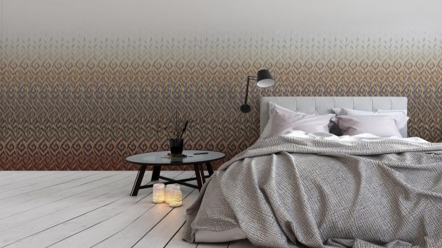 The repeat pattern of this Newmor (newmor.com) Tribe wall covering costs from about €41 per square metre