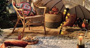 This low-set look epitomises the boho chic of party island Ibiza. For inspiration head to Home Sense (homesense.com)