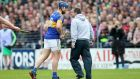 "Davy Fitzgerald confronts Jason Forde during the league semi-final at Nowlan Park.  ""I deserved the ban, I was on the field, and if you're on the field, that's it, you accept it.""  Photograph: Ryan Byrne/Inpho"