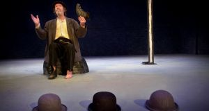 Johnny Murphy plays Estragon in Beckett's 'Waiting For Godot' at the Gate.  Photograph: Bryan O'Brien
