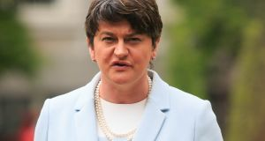 DUP leader Arlene Foster: requested restriction on gay couples from Northern Ireland converting civil partnerships to same sex-marriages in Scotland. Photograph: Gareth Chaney Collins
