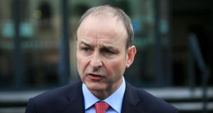 Fianna Fáil leader Micheál  Martin:  said trust between Fianna Fáil and Fine Gael had been damaged by the events of the past few days. Photograph: Gareth Chaney Collins