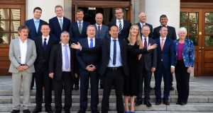 Taoiseach, Leo Varadkar with new Ministers of State. Photograph: Dara Mac Dónaill / The Irish Times