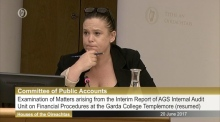 Mary Lou McDonald questions Nóirín O'Sullivan during PAC marathon