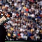 Tiger Woods tees off at Pebble Beach at the 2000 US Open. Photograph: Getty Images