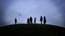 Crowds gather for summer solstice on the Hill of Tara