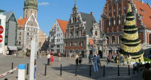 "The old town in Latvia's capital, Riga. From Bulgaria on the Black Sea to Estonia beside the Baltic, political leaders in eastern Europe are lobbying for a ""soft"" Brexit."