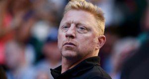 File image of Boris Becker at the Australian Open  in Melbourne in 2014. Photograph: David Gray/Reuters