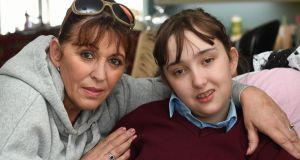 Tina McElligott  (16) with her mother Margaret, in Kilflynn, Co Kerry: her Alpers syndrome is relieved by cannabis oil, which is still illegal in Ireland.