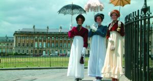 The Costumed Charity Promenade is part of the annual Jane Austen Festival