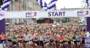 "The 2017 Women's Mini Marathon, sponsored by the VHI: ""While the VHI is not perfect, it remains a not-for-profit entity."" Photograph: Dara Mac Dónaill"