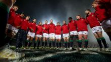 Captain Peter O'Mahony speaks to the British & Irish Lions team before facing the Maori All Black. Photograph: Dan Sheridan/Inpho