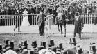 Throwaway returns to  the winner's enclosure after winning the Gold Cup at Ascot in 1904