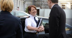 Garda Commissioner Nóirín O'Sullivan arriving at Leinster House for the Public Accounts Committee meeting on Tuesday. Photograph: Cyril Byrne