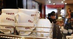 Costa coffee owner Whitbread was among the top performers.  Photograph: Joe Giddens/PA Wire
