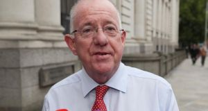 Minister for Justice Charlie Flanagan said he was precluded as a member of the Government from discussing who was in the Cabinet room or who said what. Photograph: PA