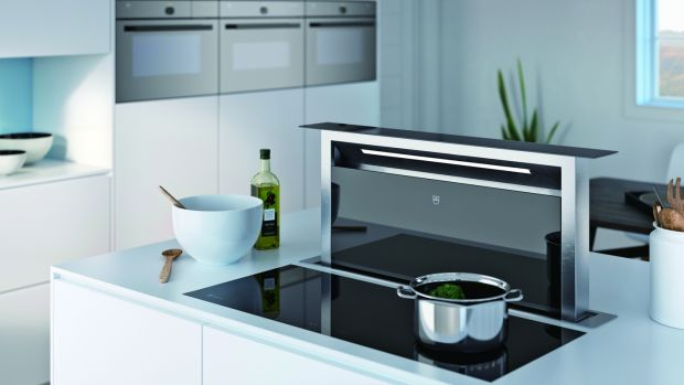 The V-Zug downdraft extractor hood