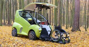 The Elbee: a front-loading car designed  to give  disabled people a greater sense of freedom