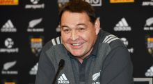 New Zealand head coach Steve Hansen speaks at a press conference ahead of the first Test against the Lions. Photo: Inpho