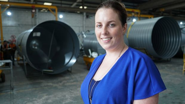Claire McAree Doogan of McAree Engineering, which is located on Bellanode in rural north Monaghan. Photograph: Enda O'Dowd