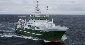 The RV Celtic Explorer, which led the Global Ocean Ship-based Hydrographic Investigations Program (Go-Ship) in May. Photograph: David Branigan/Oceansport