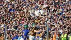 "A section of the  packed house at Nowlan Park watch Henry Shefflin in action: ""It was two teams facing off in a battle in a desert heat, testing themselves to the last drop."" Photograph: Morgan Treacy/Inpho"