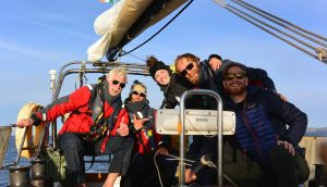 Claire McCluskey and the crew of Rogue Trader arrive home in Ireland after their transatlantic crossing