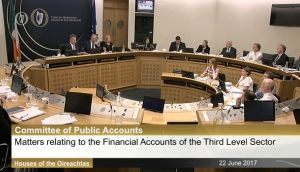 Senior officials from several colleges appeared before the Dáil's Public Accounts Committee to answer questions over unauthorised severance packages, conflicts of interest and poor corporate governance.
