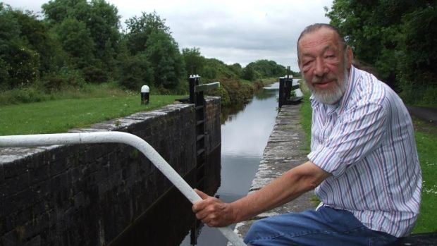 Dick Warner: on the Royal Canal for one of his Waterways series for RTÉ