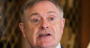 "Labour leader Brendan Howlin: claimed the Government  ""is giving away the people's investment at less than what it is worth. Photograph: Gareth Chaney Collins"