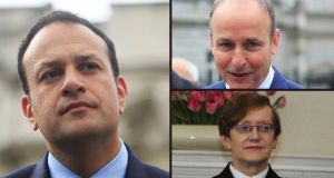 A rift has opened between Leo Varadkar and Micheál Martin over the appointment of Máire Whelan to the Court of Appeal. Photographs: The Irish Times
