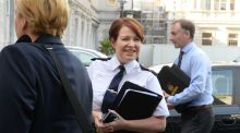 Garda Commissioner Nóirín O'Sullivan arrives at Leinster House on Tuesday for her appearance before the Public Accounts Committee. Photograph: Cyril Byrne