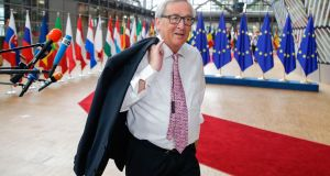 European Commission president Jean-Claude Juncker said this was a first step 'but this step is not sufficient'. Photograph: Photograph: Getty