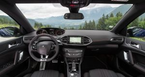 Inside the 308's cabin is well laid out, comfortable and free of clutter. The 308's impressive i-Cockpit dash layout is the star attraction. It places the speedometer and rev counter close to the base of the windscreen within easy glance