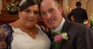 Thomas Power on his wedding day to Bernadette Power (nee Delaney) last September. The 39-year-old from Dunmore East died while being transferred between University Hospital Waterford and Cork Universirty Hospital. Photograph:  Facebook