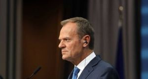 "EU Council president Donald Tusk:  he said ""the offer is below our expectations, and risks worsening the situation for our citizens"". Photograph: Getty Images"