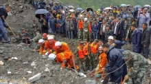 Over 140 people buried by landslide in China