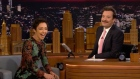 Ruth Negga pokes fun at Jimmy Fallon's 'Irish politician' moustache