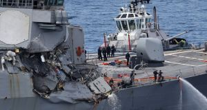 Maritime mystery: why a US destroyer and cargo ship collided
