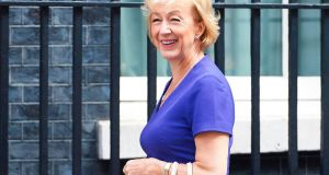 Britain's Leader of the House of Commons Andrea Leadsom arrives for  a cabinet meeting at No 10 Downing Street in  London on June 20th, 2017. File photograph: Niklas Halle'n/AFP/Getty Images