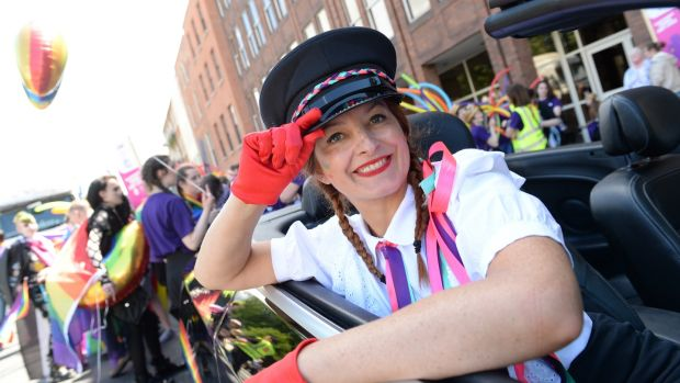 Mimi Bunting, Drumcondra, at Dublin Pride. Photograph: Dara Mac Dónaill/The Irish Times