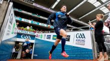 Dublin's Bernard Brogan runs out onto the pitch for the All-Ireland final replay. Photograph: Inpho