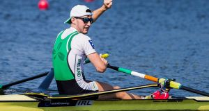 Ireland's Paul O'Donovan set a new personal best on Saturday. Photograph: Derman Dingler/Inpho